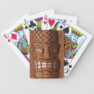 Máscara de madera de Tiki Baraja Cartas De Poker