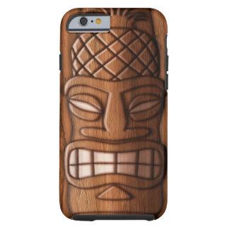 Máscara de madera de Tiki Funda Para iPhone 6 Tough