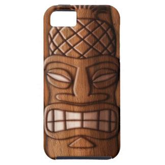 Máscara de madera de Tiki iPhone 5 Case-Mate Carcasas