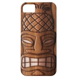 Máscara de madera de Tiki iPhone 5 Cobertura
