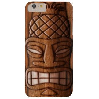 Máscara de madera de Tiki Funda Para iPhone 6 Plus Barely There
