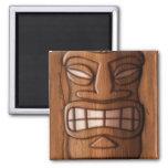 Máscara de madera de Tiki Iman De Nevera