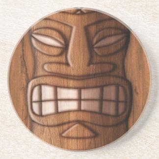 Máscara de madera de Tiki Posavasos Para Bebidas
