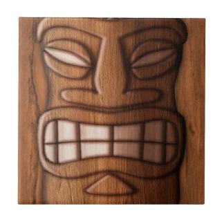 Máscara de madera de Tiki Tejas Cerámicas