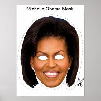 Máscara de Michelle Obama Halloween Póster