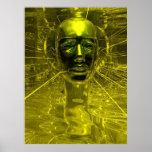 Máscara de Nefertiti Poster