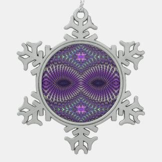 Máscara de ojo de plata púrpura colorida brillante adorno de peltre en forma de copo de nieve