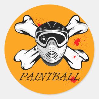 Máscara de Paintball Pegatina Redonda