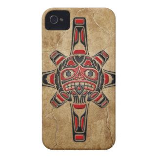 Máscara de piedra de Sun del Haida Case-Mate iPhone 4 Carcasa