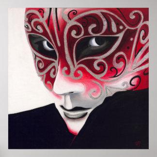 Máscara de plata del instinto poster