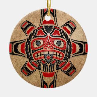 Máscara de Sun del Haida Adorno Para Reyes