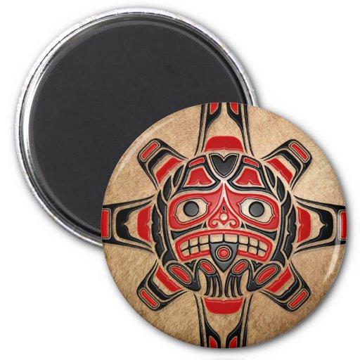 Máscara de Sun del Haida Iman De Frigorífico