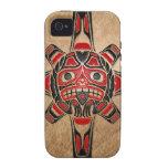 Máscara de Sun del Haida iPhone 4/4S Funda