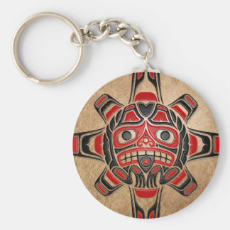 Máscara de Sun del Haida Llaveros Personalizados