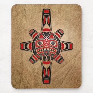Máscara de Sun del Haida Alfombrilla De Ratón