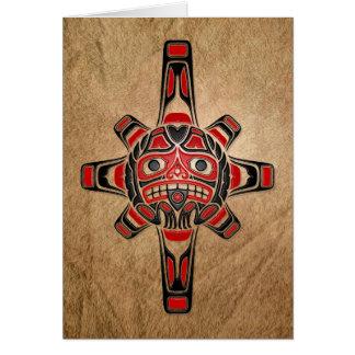 Máscara de Sun del Haida Tarjeta De Felicitación