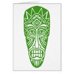 Máscara de Tiki - aguacate Tarjetas
