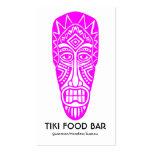 Máscara de Tiki - magenta en blanco Tarjetas De Visita