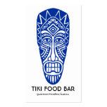Máscara de Tiki - marina de guerra en blanco Tarjetas De Visita