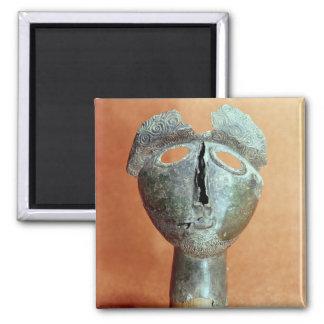 Máscara de una divinidad pirenáica, de Montouse Imán Cuadrado