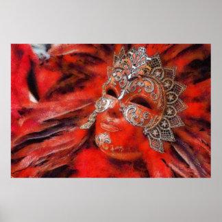 Máscara de Venecia Póster