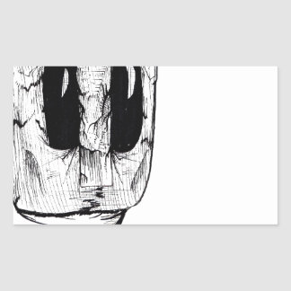 Máscara del búho pegatina rectangular