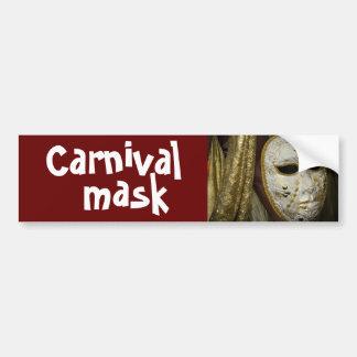 máscara del carnaval pegatina de parachoque