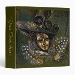 Máscara del carnaval - carpeta verde del oro de N