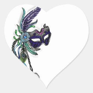 Máscara del carnaval con el reloj de bolsillo calcomanía de corazón personalizadas