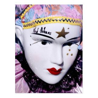 Máscara del carnaval de New Orleans Postal