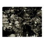 Máscara del carnaval de Venecia del carnaval Postal