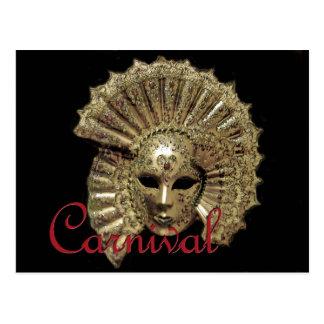 Máscara del carnaval de Venitian Tarjeta Postal