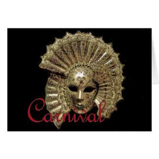 Máscara del carnaval de Venitian Tarjeton