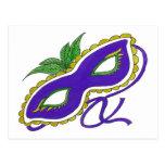 Máscara del carnaval postal