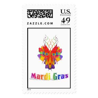 Máscara del carnaval sello postal