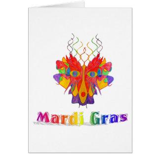 Máscara del carnaval tarjeta pequeña
