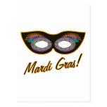 Máscara del carnaval tarjeta postal