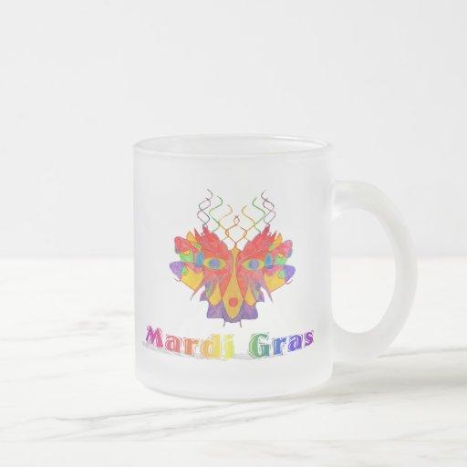 Máscara del carnaval taza de café esmerilada
