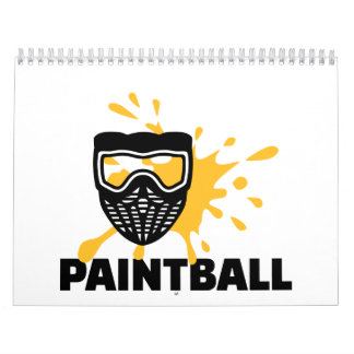 Máscara del chapoteo de Paintball Calendarios De Pared