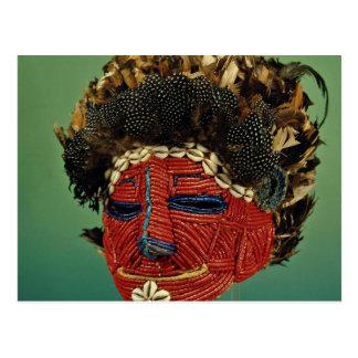 Máscara del culto, Zaire, África Tarjeta Postal