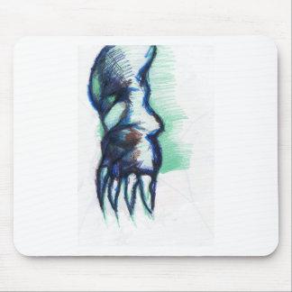 Máscara del demonio del terror alfombrilla de ratón