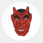 Máscara del diablo pegatinas redondas