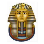 Máscara del egipcio de Tutankhamun Tarjetas Postales