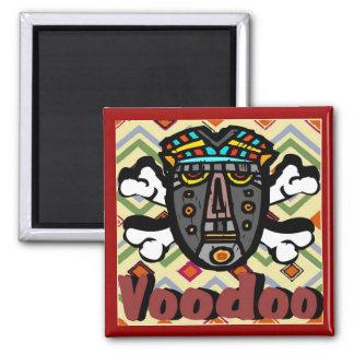 Máscara del encanto del vudú imán cuadrado