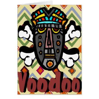 Máscara del encanto del vudú tarjeta de felicitación