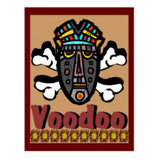 Máscara del encanto del vudú tarjetas postales
