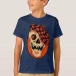 Máscara del esqueleto de Halloween del vintage Playera