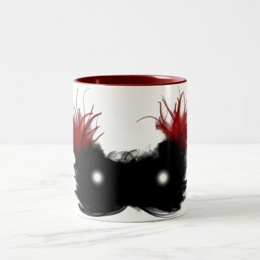 Máscara del fantasma tazas de café