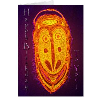 Máscara del feliz cumpleaños tarjeta de felicitación