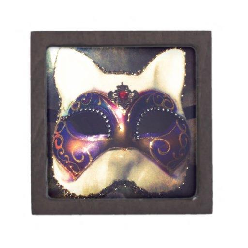 Máscara del gato cajas de recuerdo de calidad